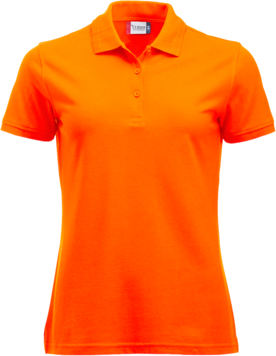 clique manhatten polo tee women orange 028251 170 10