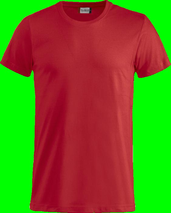 Clique Basic Cotton T-shirt › Rouge (029030-35) › 23 Couleurs › T ... e74cd008008