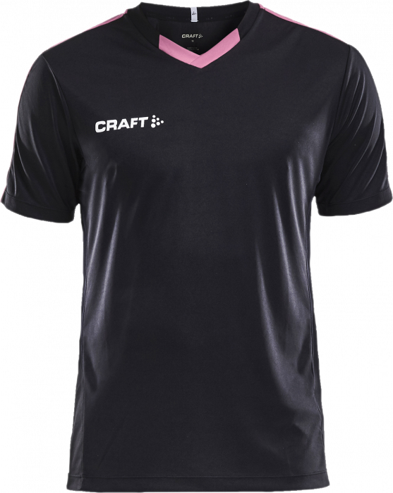 cb02e053d7b85 Craft PROGRESS CONTRAST Jersey Junior › Svart   lyserød (1905583 ...