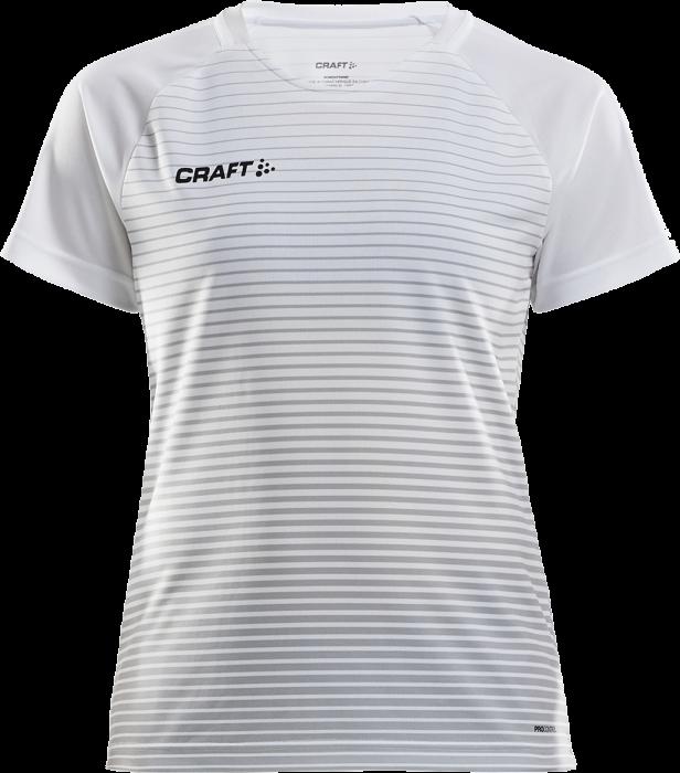 8a835edf Craft Pro Control Stripe Jersey woman › White & melange grey ...