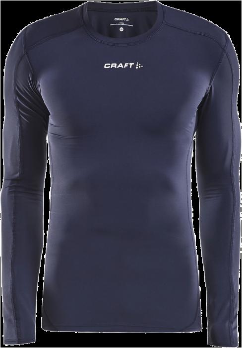 1873203b Craft Pro Control Kompressions T-Shirt Langærmet › Navy blå & hvid ...