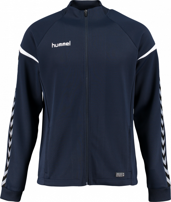 2027128a39f Hummel Authentic Charge Poly Zip Jacket › Total Eclipse & white ...