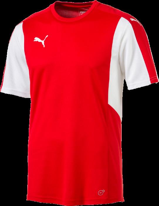 9cb5c439caa51 Puma Dominate t-shirt › Röd   vit (703063) › 7 Färger › Kläder från ...