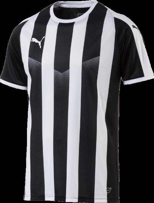 a98a947519dd Puma Liga Striped Kortærmet Tee › Sort   hvid (703424 03) › 8 Farver ...