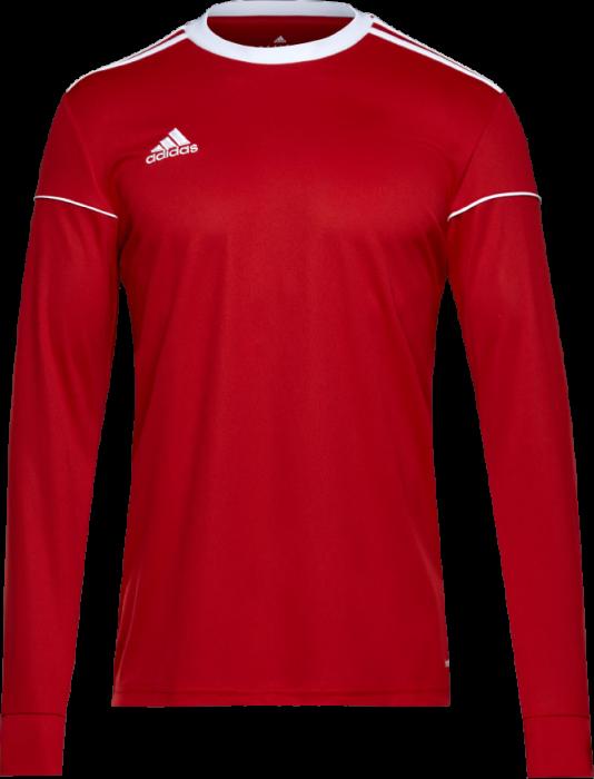 Adidas SQUADRA 17 Jersey LS › Red & white (BJ9186) › T-shirts ...