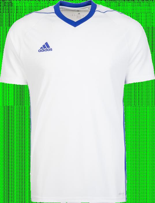 760db1f18084 Adidas Tiro 17 Jersey › Bianco & blu cobalto (BK5434) › 6 Colori › T ...