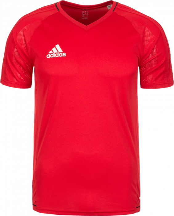 ee31e0fc Adidas TIRO 17 TRAINING JERSEY Kids › Red & black (BP8557) › 6 ...