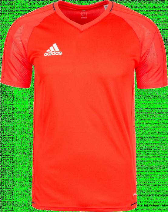 Adidas TIRO 17 TRAINING JERSEY Kids › Energy Rød   marinblå (BQ2809 ... ce0520f543343