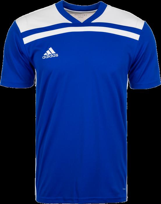 Adidas Regista 18 SS game jersey › Blå   vit (CE8965) › 7 Färger ... e7934ce674b43