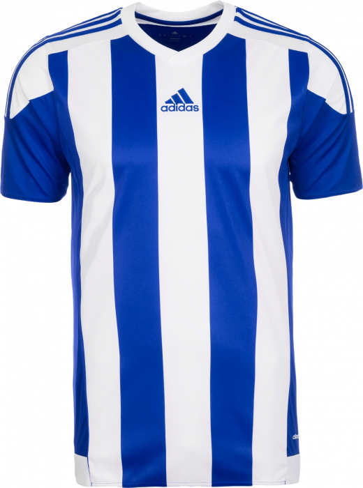 Persona a cargo Espinoso Formular  Adidas STRIPED 15 S/S JERSEY › Cobolt blue & white (s16138) › 8 Colors ›  T-shirts & polos