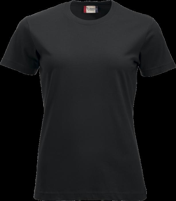 Klassisk Bomulds T Shirt Dame