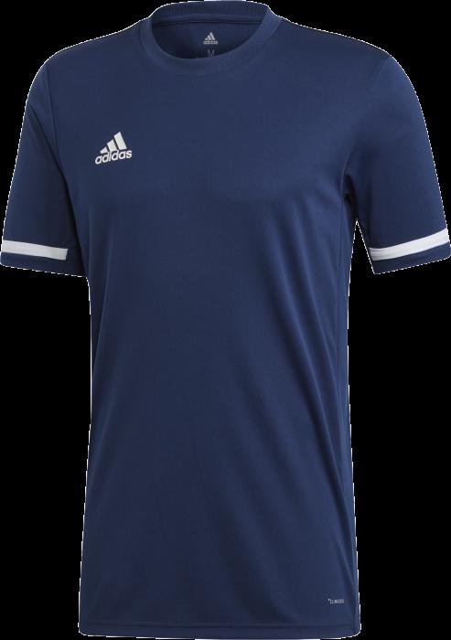 0e81d6095 Adidas team 19 short sleeve jersey › Marinblå & vit (dy8852) › 4 ...