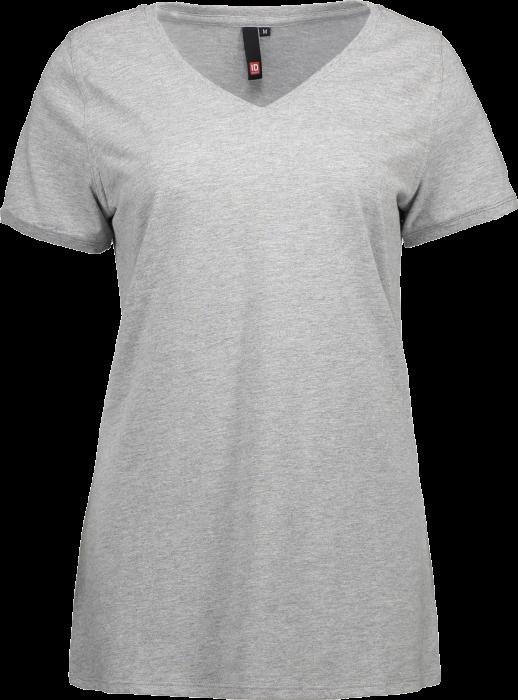 V Hals T Shirt Dame
