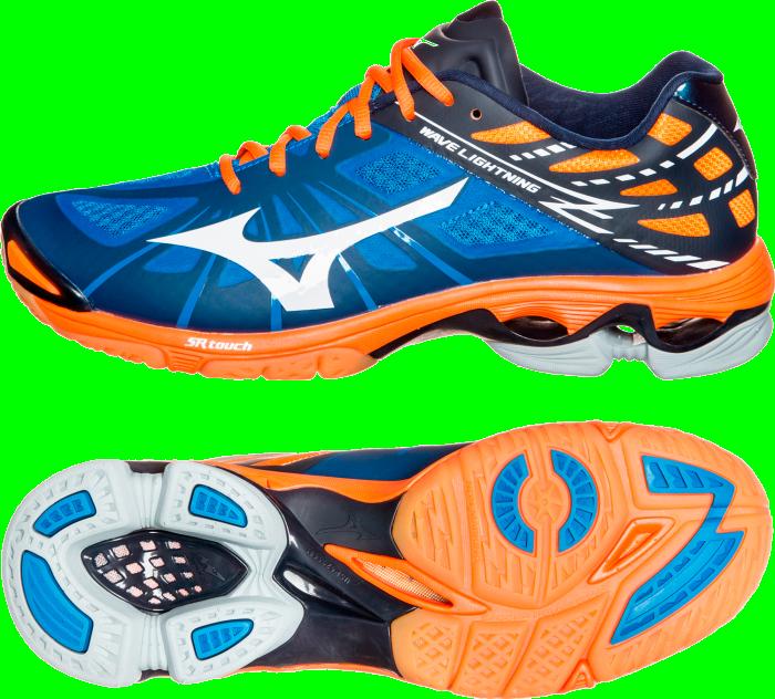 bc5d3ad095c6 Mizuno WAVE LIGHTNING Z › Dynamic Blue & orange (V1GA150022) › Shoes