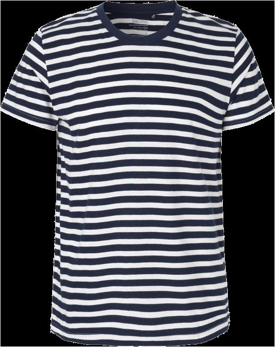 Økologisk Bomuld Fit T Shirt Stribet