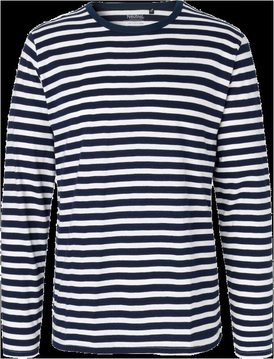 Økologisk Langærmet Bomulds T Shirt Stribet